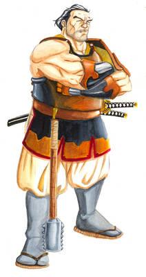 Samurai man