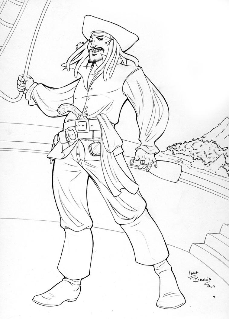 Jack Sparrow - Free Colouring Pages
