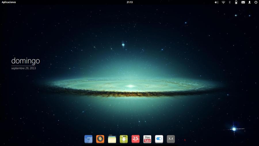 29.09.13 | Elementary OS | Galaxy Desktop by Nachosaurio