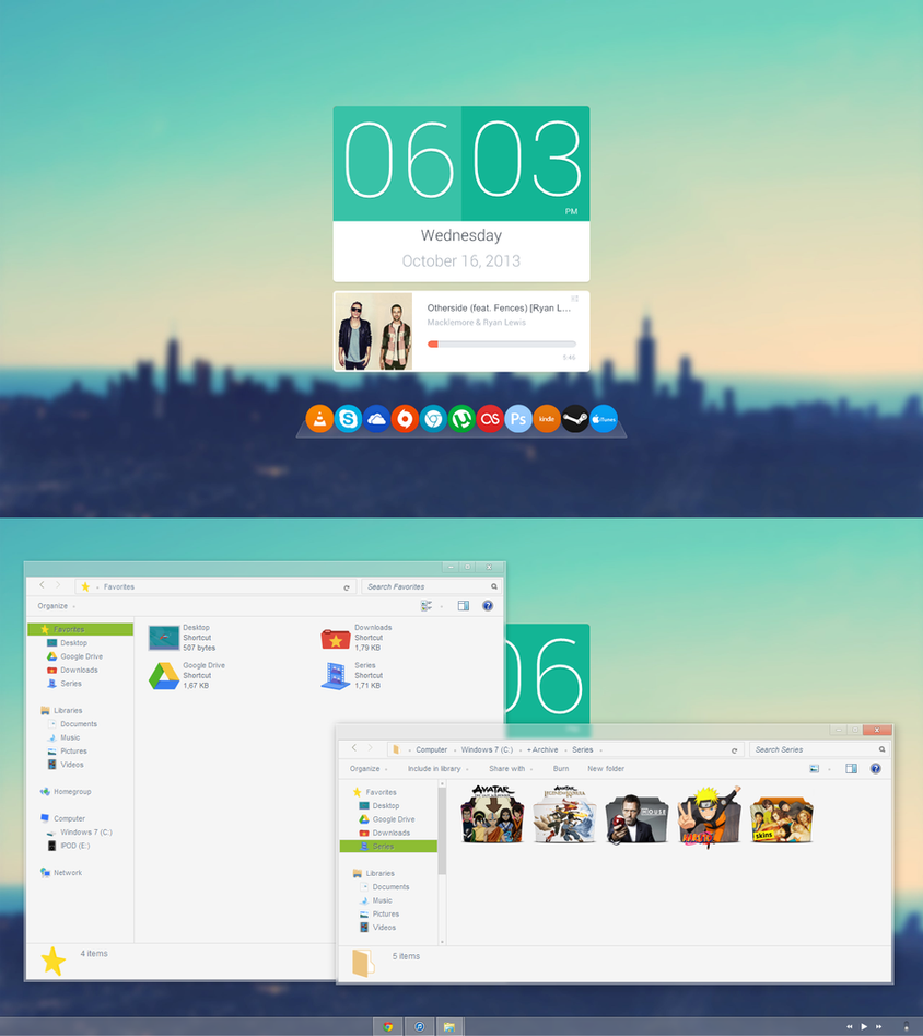 16.10.13 | Windows 7 | Flathat Desktop by Nachosaurio