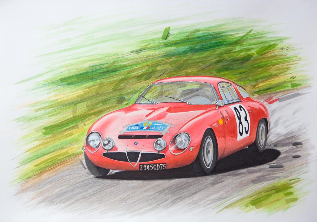 Alfa Romeo TZ by scrim23