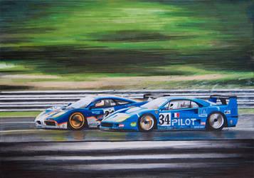 F1 GTR vs F40 LM by scrim23
