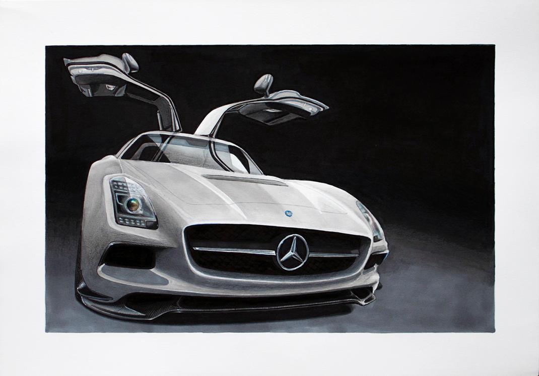 Mercedes SLS AMG Coupe Black Series by scrim23