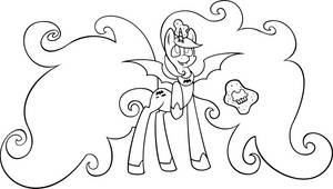 Halloween Alicorn Colouring Page by PenguinBombSquad