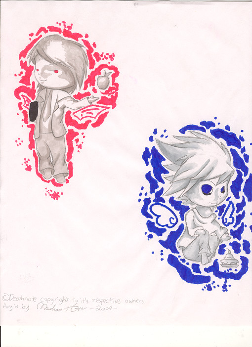death note light and l chibi - photo #19