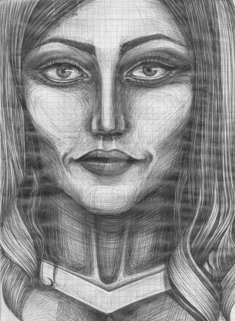 Portrait (Ball Pen) by azurite