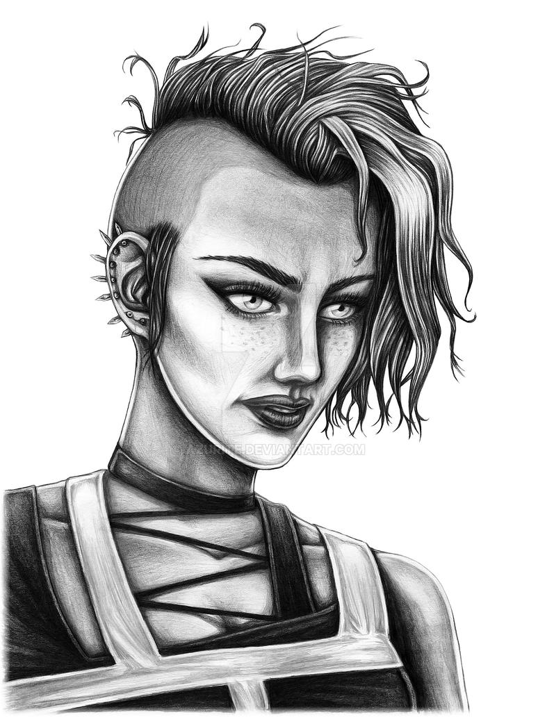 Punk girl by azurite