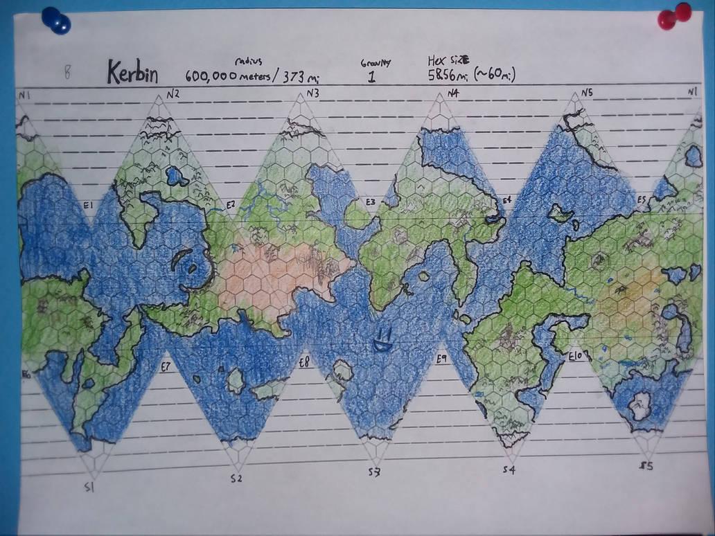 Kerbin Traveller Map (DnD Continent Scale) by GregroxMun on DeviantArt