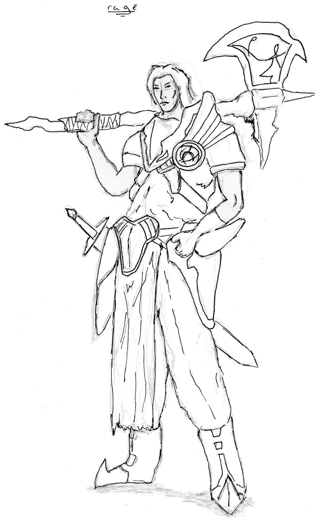 Single Line Character Art : Character line work for college by tylerdude on deviantart