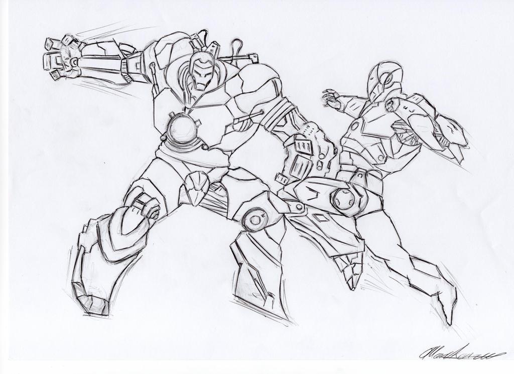 Line Work Art : Iron man line work by tylerdude on deviantart