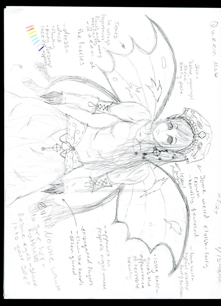 My rough sketch of queen mab romeo and juliet by magictoasterchan