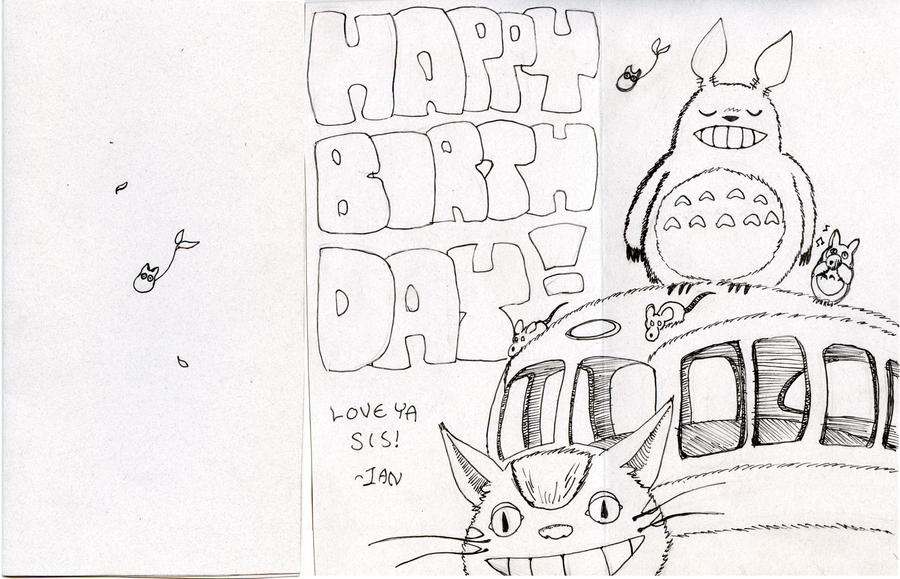 13th Birthday Card ft Totoro by griffiti on DeviantArt – Totoro Birthday Card