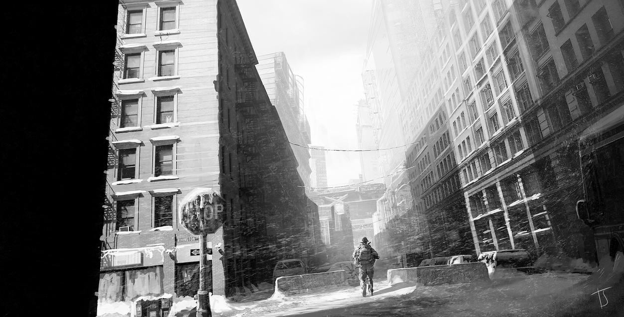 Snowy Manhattan by SiberionSnow