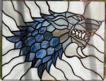 House Stark Stained Glass