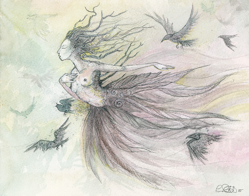 Lady of the Birds by shadowgirl