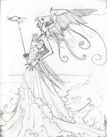 Bird Goddess by shadowgirl
