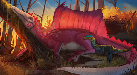 COMPLETE YCH - Sleeping Dinos