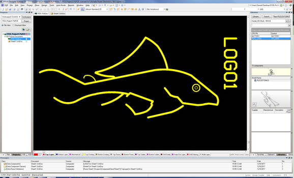 Plecostomus Logo - Altium Designer Silk Screen