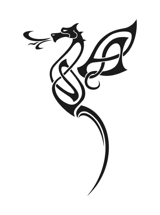 Line Drawing Dragon Tattoo : Celtic wyrm by lcn on deviantart