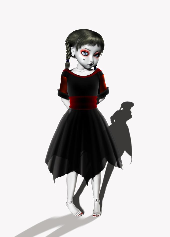 Gothy Doll by Phlox73