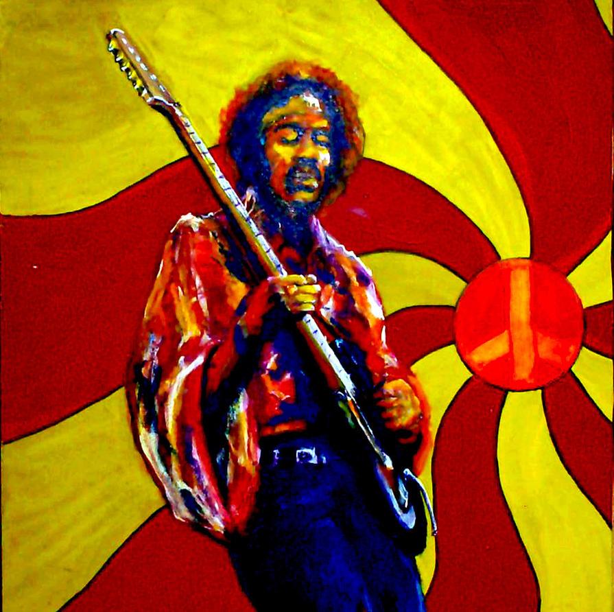 Psychedelic hendrix by montalvo mike on deviantart - Jimi hendrix wallpaper psychedelic ...