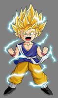 GT Kid Goku - Super Saiyan 2 by dbzataricommunity