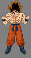False Super Saiyan Goku by dbzataricommunity