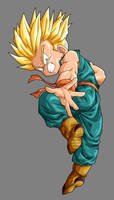 Super Saiyan Kid Trunks by dbzataricommunity