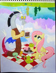 Fluttershy and Discord Have a Picnic