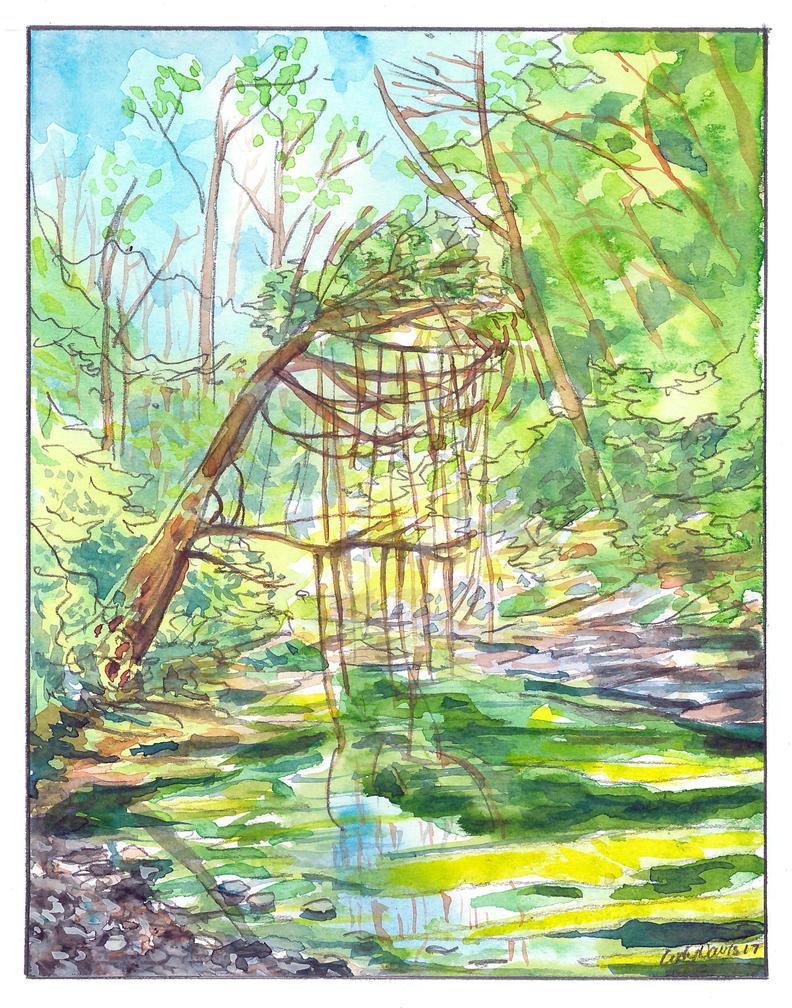 Three Creeks Plein Air by hertubise