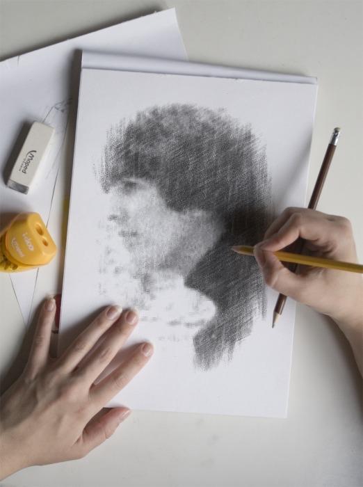 George Harrison-Sketch Me by WilburRobinsonsGirl