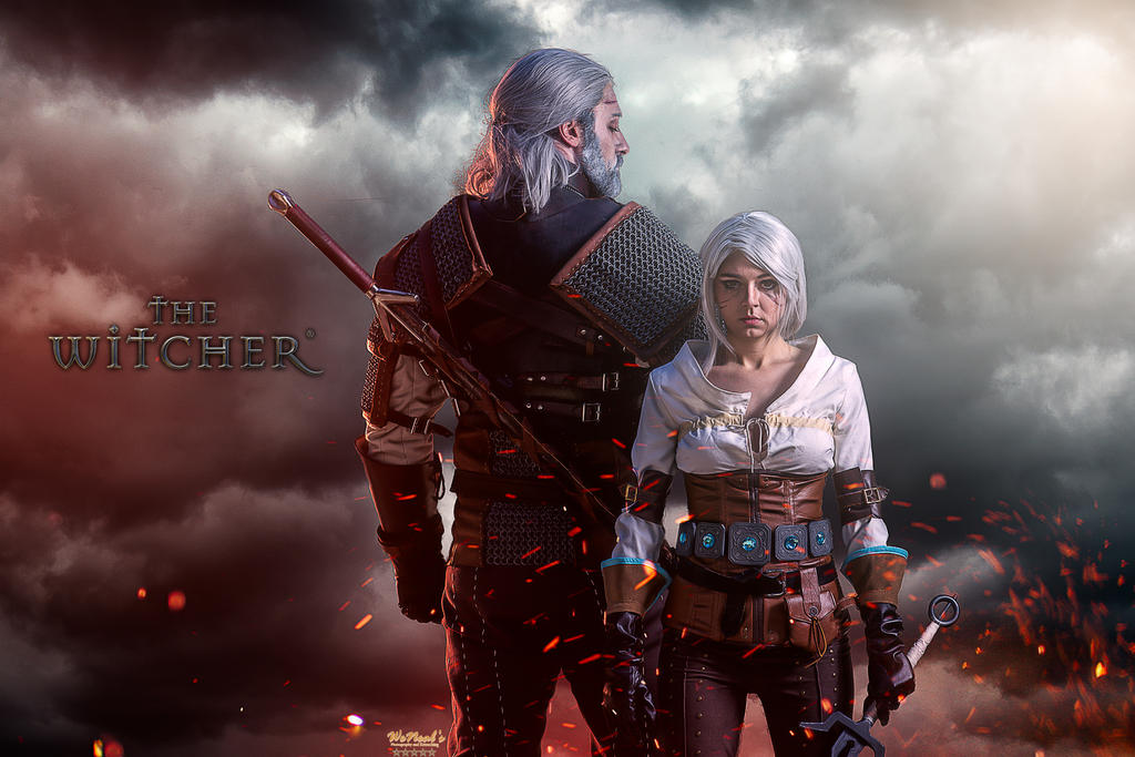 Geralt and Ciri by Torremitsu