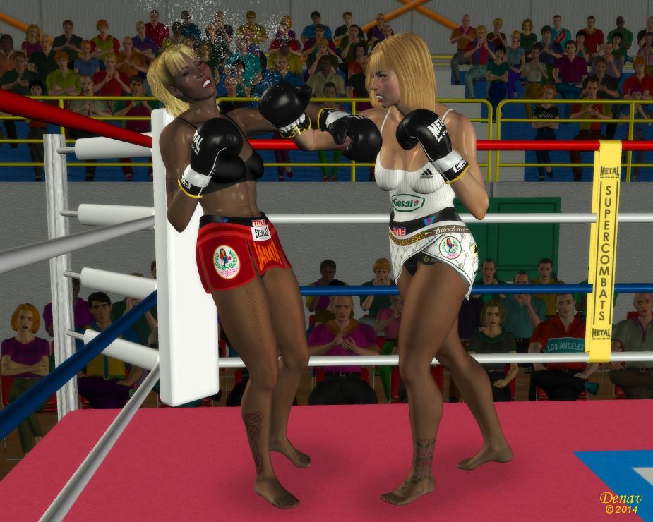 Girls kickboxing topless — img 9