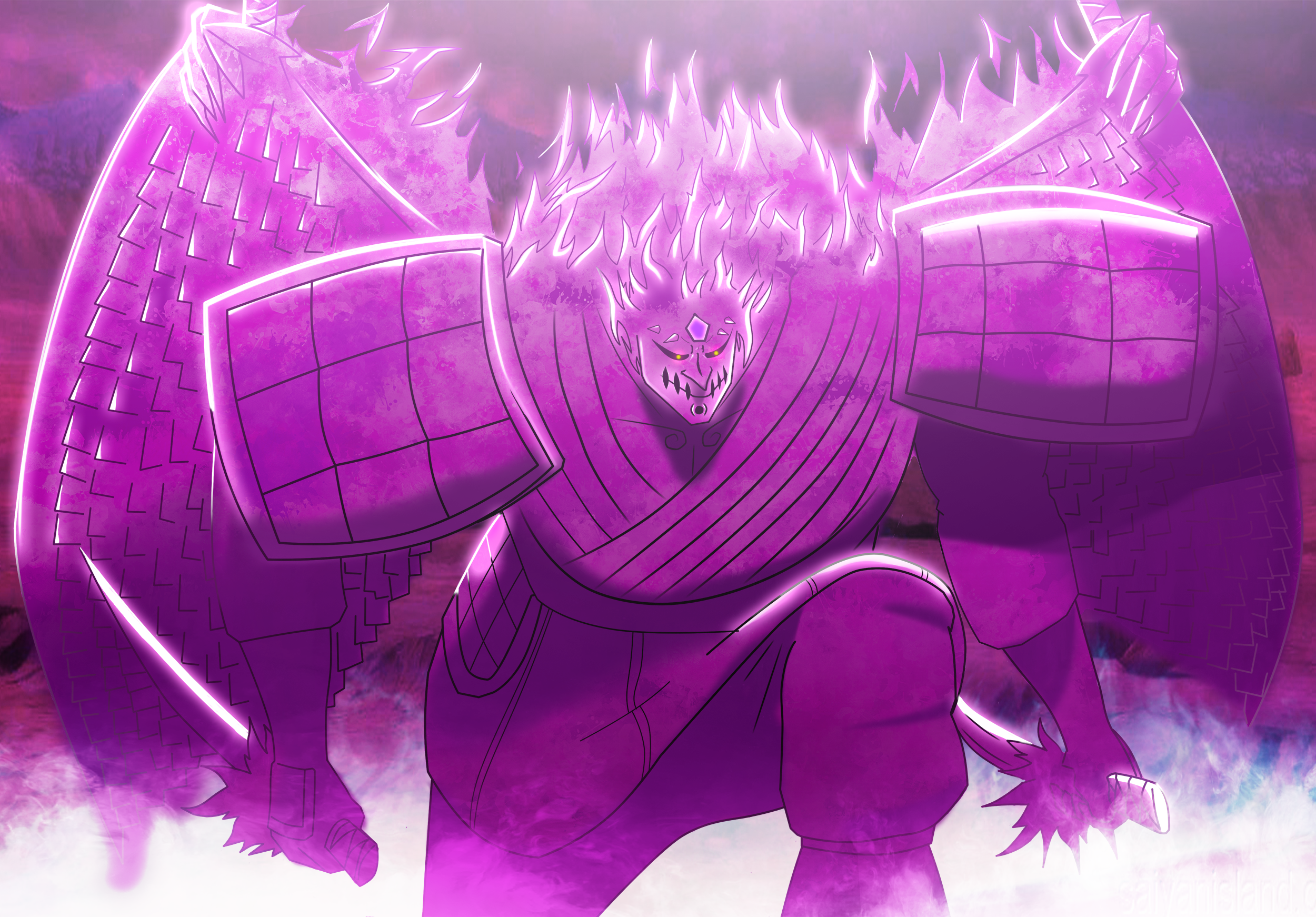 Sasuke's Perfect susanoo by drewriva on DeviantArt