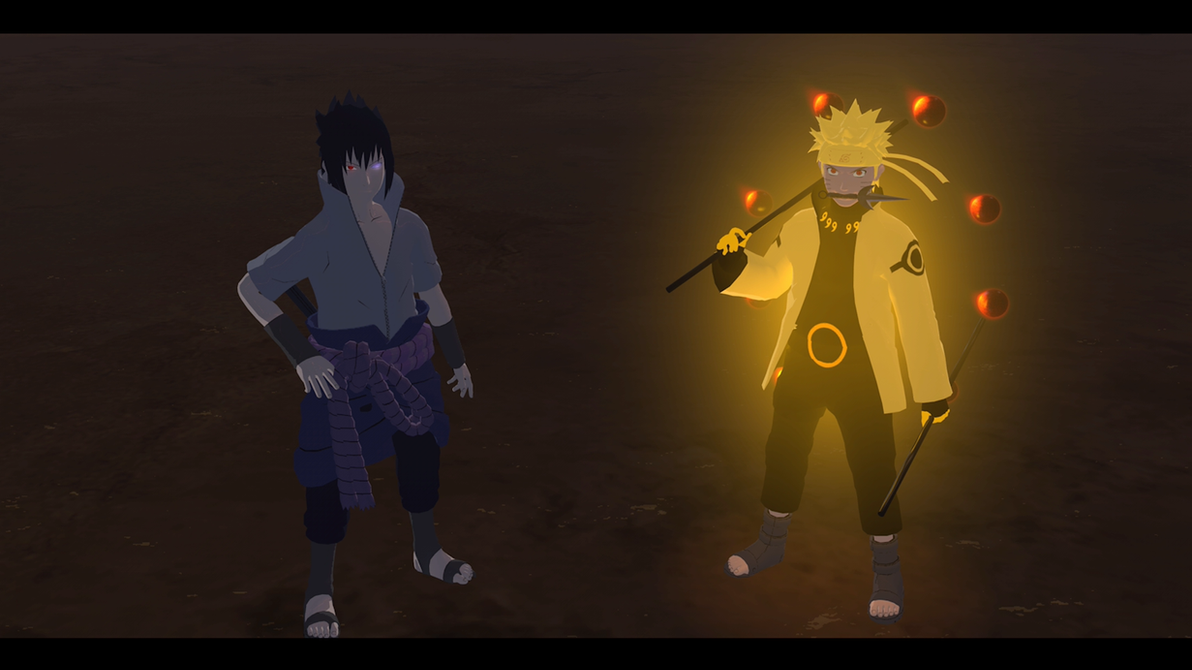 Sage of Six Paths Naruto and Rinnegan Sasuke by drewriva on DeviantArt