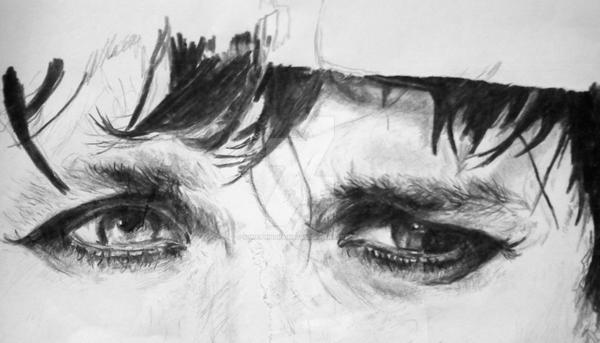 Billie joe's eyes-WIP by somethingrainbows