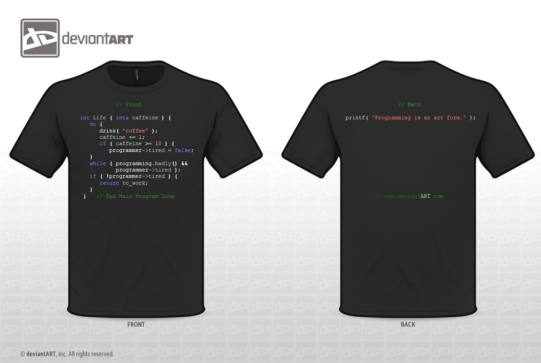 while(true){make.shirt()} by SyntheticMemory