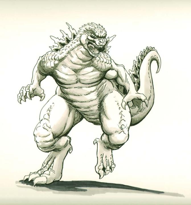 Godzilla draw by ginodrone