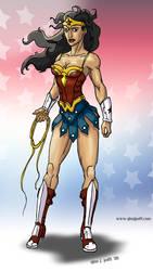 Wonder Woman warrior design by GinoDrone