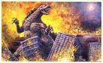 Godzilla Rules Painting