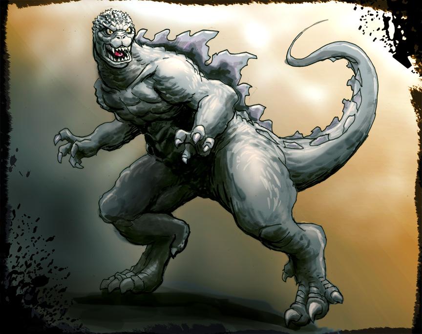 Godzilla COLORIZED by GinoDrone