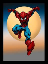 Spiderman Con sketch in color