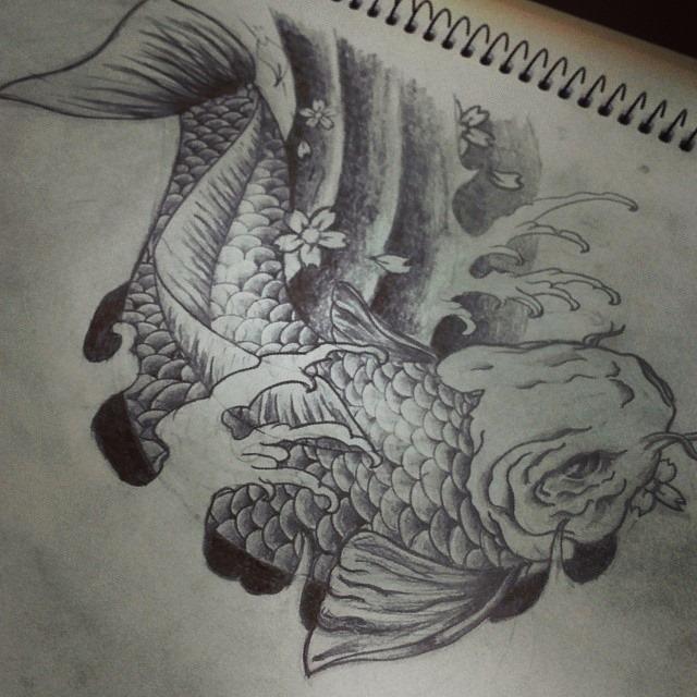 Japanese Koi Fish Tattoo Design By Dongedzo On Deviantart