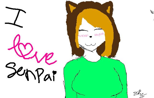 I love Senpai by wolfgrl78