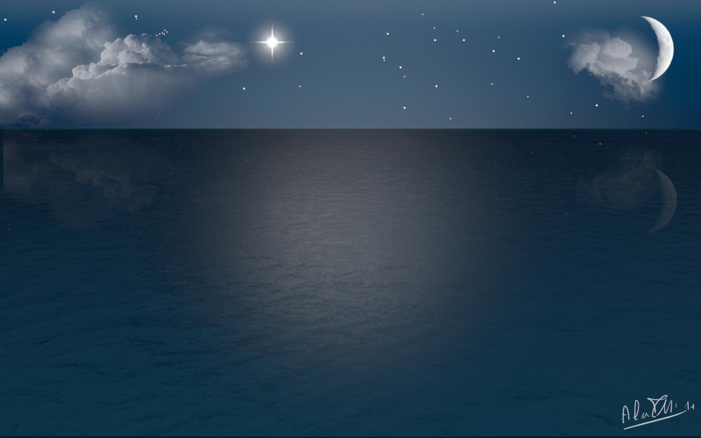 Summer Night Sea by Trocchia on DeviantArt