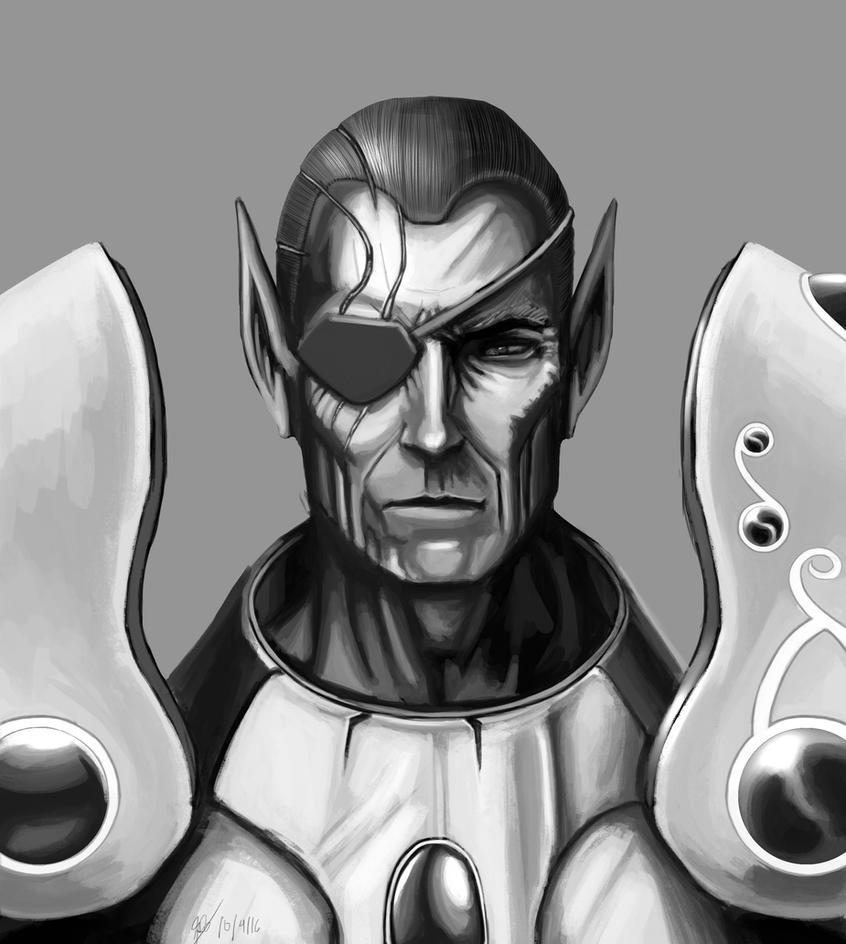 Vyros Incissar of the Dawnguard Portrait by PhearTheHam