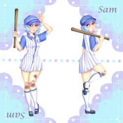Baseball Sam by ItsJustFlippy