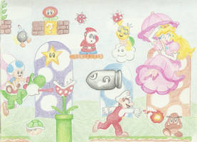 Mario Bros Page 1 by myvoicesrloudest