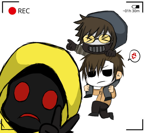 Masky, Hoodie, And Ticci Toby (Chibi Version) By Moichia