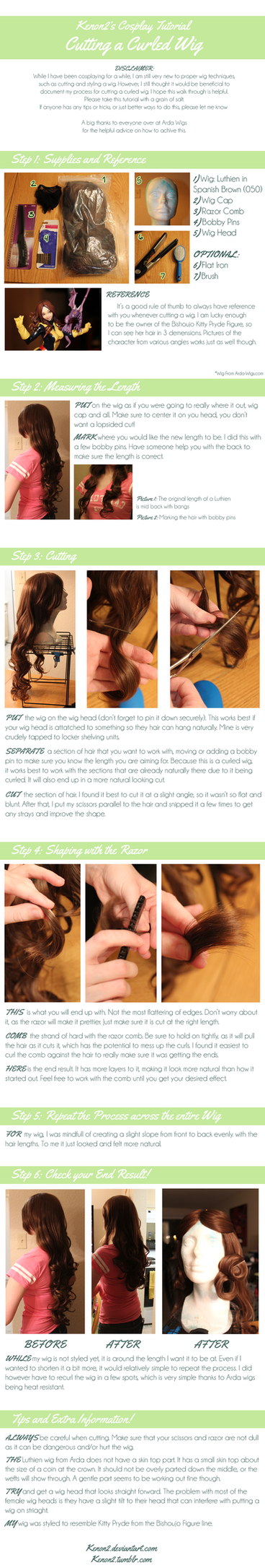 Wig Tutorial: Cutting a Curled Wig by LilyBat
